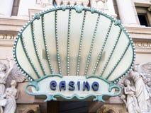 El casino firma adentro Las Vegas Fotografía de archivo libre de regalías