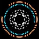 El casino salta el icono del vector ilustración del vector