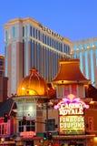 El casino veneciano del hotel de centro turístico Foto de archivo libre de regalías