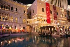 El casino veneciano del hotel de centro turístico Fotografía de archivo libre de regalías