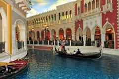 El casino veneciano del hotel de centro turístico en Las Vegas Fotografía de archivo libre de regalías