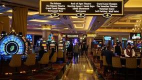 El casino veneciano del hotel de centro turístico en Las Vegas Imágenes de archivo libres de regalías