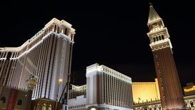El casino veneciano del hotel de centro turístico en Las Vegas Imagen de archivo libre de regalías