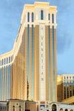 El casino veneciano del hotel turístico en la tira de Las Vegas Imagen de archivo libre de regalías