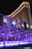 El casino veneciano del hotel turístico en Las Vegas Imágenes de archivo libres de regalías