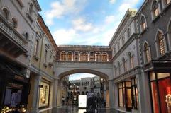 El casino veneciano del hotel turístico en Las Vegas Imagen de archivo libre de regalías