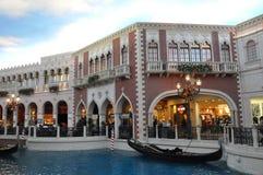 El casino veneciano del hotel turístico en Las Vegas Foto de archivo
