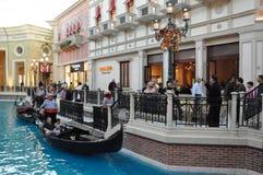 El casino veneciano del hotel turístico en Las Vegas Imagenes de archivo
