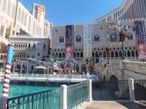 El casino veneciano del hotel turístico en Las Vegas Fotos de archivo libres de regalías
