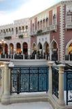 El casino veneciano del hotel turístico en Las Vegas Foto de archivo libre de regalías