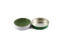 El casquillo abierto de la crema verde Imágenes de archivo libres de regalías