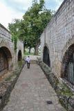 El castel medieval de la fortaleza del castillo en Banja Luka, Bosnia y Herzegovina foto de archivo libre de regalías
