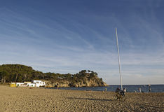 """El Castell"" Beach, Palamos, Costa Brava, Girona,Spain Royalty Free Stock Photography"