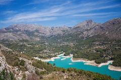 El Castell de Guadalest. Or briefly Guadalest is a Valencian town and municipality located in a mountainous area of the comarca of Marina Baixa, in the province Stock Image