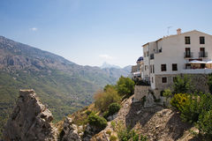 El Castell de Guadalest. Or briefly Guadalest is a Valencian town and municipality located in a mountainous area of the comarca of Marina Baixa, in the province Royalty Free Stock Photos