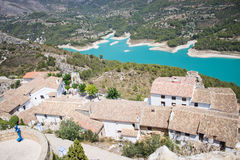El Castell de Guadalest. Or briefly Guadalest is a Valencian town and municipality located in a mountainous area of the comarca of Marina Baixa, in the province Royalty Free Stock Image