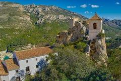 EL Castell De Guadalest de château de Guadalest dans Alicante, Espagne Photographie stock