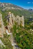 EL Castell De Guadalest de château de Guadalest dans Alicante, Espagne Images libres de droits