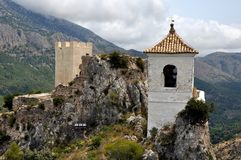El Castell de Guadalest,Spain Royalty Free Stock Photos