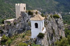 El Castell de Guadalest, Spain Stock Images