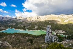 El Castell de Guadalest Spain landscape royalty free stock photo