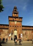 El Castello Sforzesco en Milano (Italia) Imagen de archivo