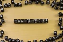 El castigo de la palabra foto de archivo