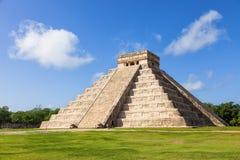 EL Castillo (ο ναός Kukulkan) Chichen Itza Στοκ Εικόνες