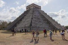 El Castillo aka Piramide De Kukulkan przy Chichen Itza obrazy royalty free