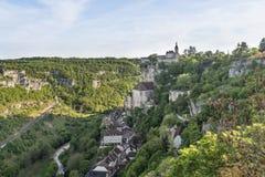 El castillo antiguo en Francia, Rocamadour Imagen de archivo