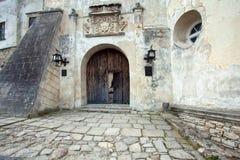 El castillo cerca de Lvov, Ucrania occidental Imágenes de archivo libres de regalías