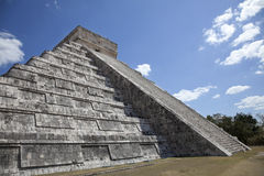 El Castillo at Chichen Itza Stock Photos