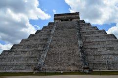 El Castillo Chichen-Itza, Mexico Fotografering för Bildbyråer