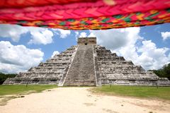 El Castillo -Chichen Itza & Sombrero Stock Photo