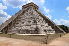 El Castillo, Chichen Itza. El Castillo Spanish for `the castle`, also known as the Temple of Kukulcan, is a Maya pyramid that dominates the center of the Chichen Stock Image