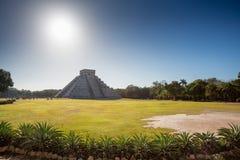 El Castillo Chichen Itza, Yucatan, Mexico Arkivfoto