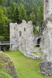 El castillo de Andraz, en el Lagazuoi y 5 áreas de Torri, Italia Fotografía de archivo