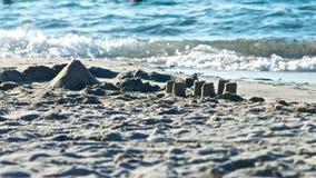El castillo de arena en la costa de ve Fotos de archivo libres de regalías