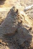 El castillo de arena en la playa Fotografía de archivo libre de regalías