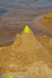 El castillo de arena en la playa Foto de archivo libre de regalías