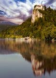 El castillo de Bled imagen de archivo