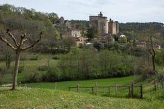 El castillo de Bonaguil - porción y Garona, francés Fotos de archivo libres de regalías