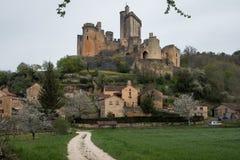 El castillo de Bonaguil - porción y Garona, francés Fotografía de archivo libre de regalías