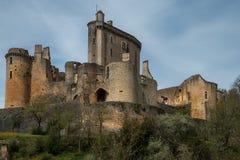 El castillo de Bonaguil - porción y Garona, francés Imagenes de archivo