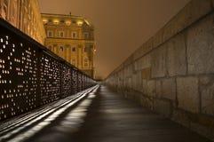 El castillo de Budapest en la noche Foto de archivo libre de regalías