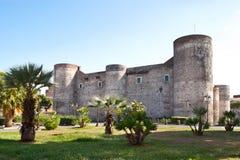 El castillo de Catania imagen de archivo