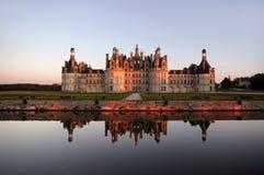 El castillo de Chambord está situado en el Loir-et-Cher, Francia Fotografía de archivo
