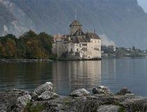 El castillo de Chillon Imagenes de archivo