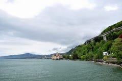 El castillo de Chillon en Montreux. Fotos de archivo