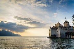 El castillo de Chillon en Montreux, Suiza Imagen de archivo libre de regalías